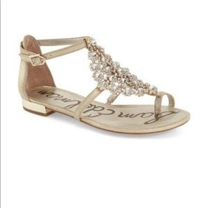 Sam Edelman Dillion Gold Sandals with Crystals